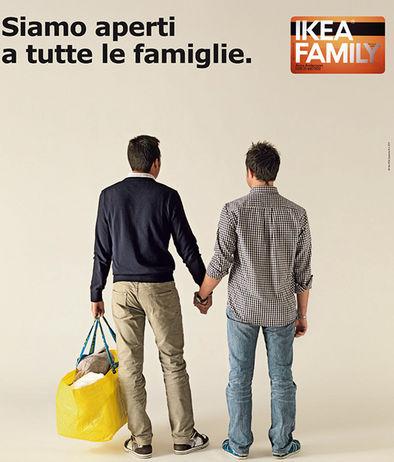 Gay nella pubblicit per il governo scandalo blogleomajor for Sedi ikea italia