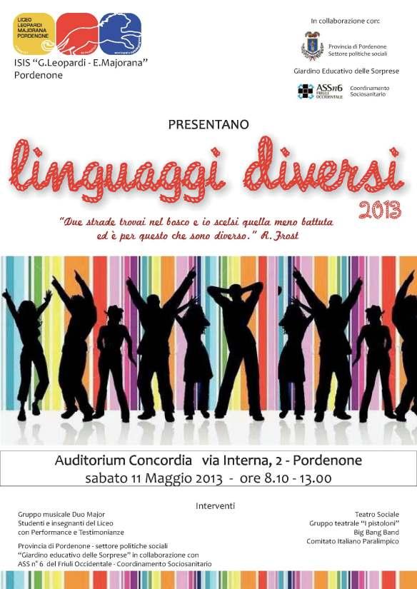 linguaggi diversi locandina